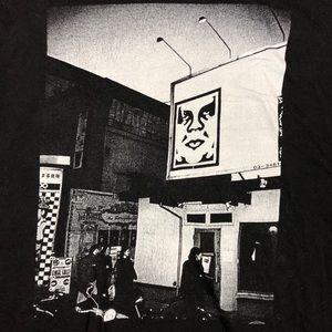 OBEY Black & White Street T-Shirt